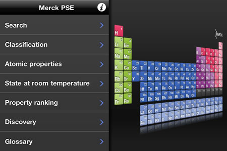 Merck pse hd iphone app of the week e learning stuff it is what you would expect from such an app it has the full perodic table information on each of the elements and images of the elements urtaz Choice Image