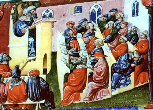 The medieval lecture